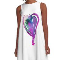Corazón Violeta A-Line Dress