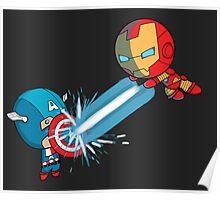 Chibi Captain America vs Chibi Iron Man Poster