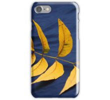 Yellow Leaves on Blue iPhone Case/Skin