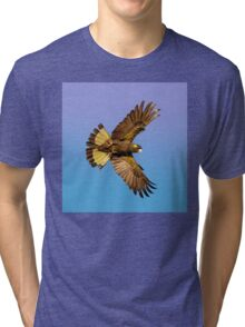 Yellow Tailed Black Cockatoo in flight. Tri-blend T-Shirt