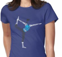 Wii Fit Trainer Typography Womens Fitted T-Shirt