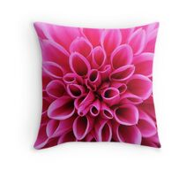 Pink Dahlia Flower Macro Throw Pillow