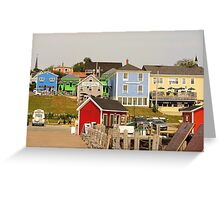 Farbenpracht Lunenburg in Nova Scotia Kanada Greeting Card
