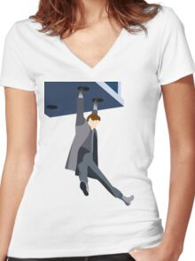 Doctor Who Eleventh Matt Smith Women's Fitted V-Neck T-Shirt