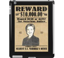 Wanted Clinton Poster iPad Case/Skin