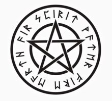 WICCA, Pentacle, Pentagram, Witch, Wizard, Modern, Pagan, Witchcraft, Religion, Cult One Piece - Short Sleeve
