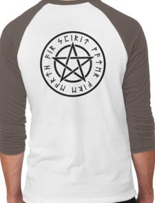 WICCA, Pentacle, Pentagram, Witch, Wizard, Modern, Pagan, Witchcraft, Religion, Cult Men's Baseball ¾ T-Shirt