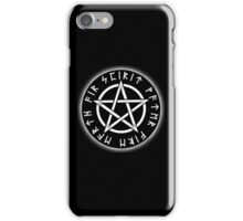 WICCA, Black, Pentacle, Pentagram, Witch, Wizard, Modern, Pagan, Witchcraft, Religion, Cult iPhone Case/Skin