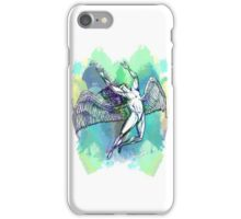 ICARUS THROWS THE HORNS - light watercolor paint splotches NEW DESIGN iPhone Case/Skin