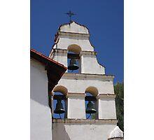 Bell Tower at San Juan Bautista Mission Photographic Print