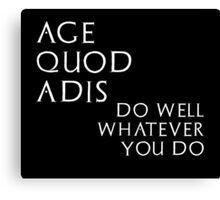 Age quod adis - inverted Canvas Print