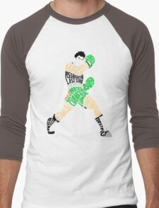 Little Mac Typography Men's Baseball ¾ T-Shirt