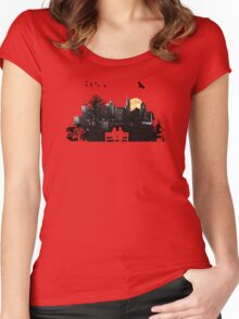 City Moonrise for Rochelle Women's Fitted Scoop T-Shirt