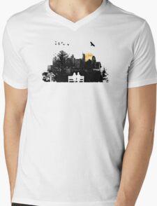 City Moonrise for Rochelle Mens V-Neck T-Shirt