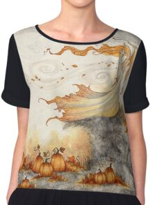 Whispers in the Pumpkin Patch Chiffon Top