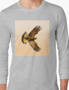 Yellwo Tailed Black Cockatoo in flight. Long Sleeve T-Shirt