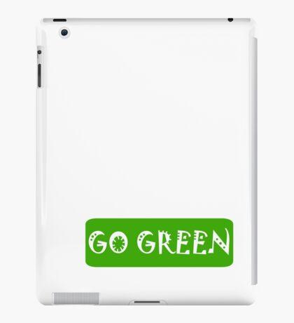 Go Green iPad Case/Skin