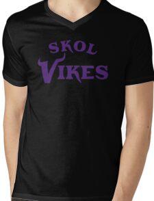 Skol Vikes Mens V-Neck T-Shirt