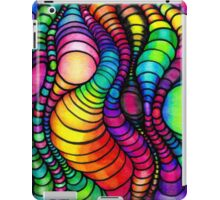 Colorful Tube Worms - Op Art iPad Case/Skin