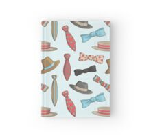 Vintage Hats and Bow Ties Hardcover Journal