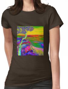 Looking out the sea-2 Womens Fitted T-Shirt
