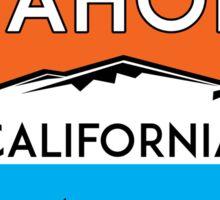 LAKE TAHOE CALIFORNIA REPUBLIC SKIING SKI LAKE BOAT BOATING BEAR SNOWBOARD Sticker