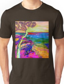 Looking out to sea. Unisex T-Shirt