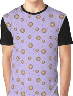 Cute Cookie Pattern Graphic T-Shirt