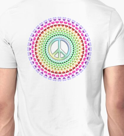 PEACE, LOVE, MANDALA, GROOVY, Hippy, Ban the Bomb Unisex T-Shirt