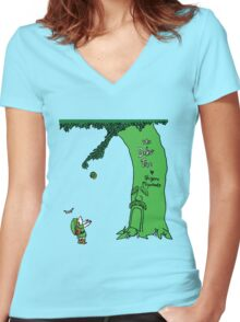The Deku Tree Women's Fitted V-Neck T-Shirt