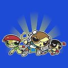 fighter puff girls by coinbox tees