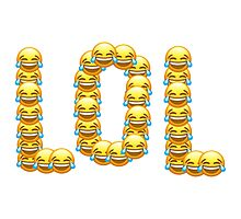 LOL - new laughing emojis! Photographic Print