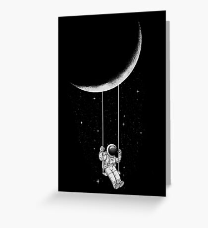 Moon Swing Greeting Card