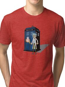 Rick and Morty -  Dr who Tri-blend T-Shirt