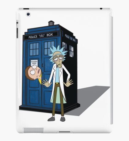 Rick and Morty -  Dr who iPad Case/Skin