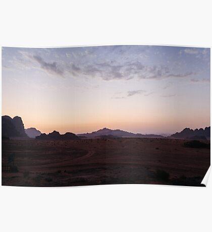 Wadi Rum at sunset / Jordan Poster