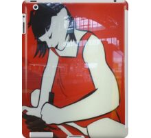 Lady drawing on the station iPad Case/Skin