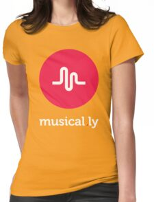 Musical.ly symbol Womens Fitted T-Shirt