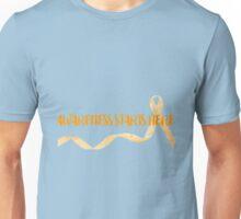 Awareness Starts Here - Orange Unisex T-Shirt