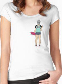 Skull Girl Women's Fitted Scoop T-Shirt