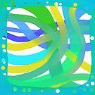 Aqua Dots and Layers by Betty Mackey