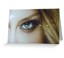the eye of a blond beauty Greeting Card