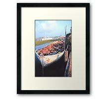 Aged Row Boat Framed Print