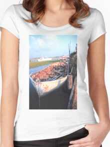 Aged Row Boat Women's Fitted Scoop T-Shirt