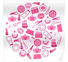 Cute beautiful Pink and White designers Items collection every Girl need! Poster
