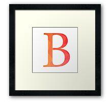 Beta-red Framed Print