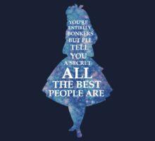 Alice In Wonderland Have I Gone Bonkers Quote Kids Tee