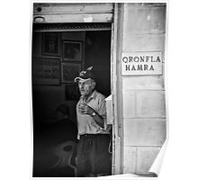 At Qronfla Hamra - Malta Street Photography in Monochrome Poster