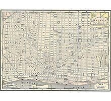 Vintage Map of Detroit (1895) Photographic Print