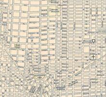 Vintage Map of Detroit (1895) Sticker